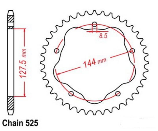LOPOR Hight Qualty Motorcycle Rear Sprocket 525*39T For Ducati Road 796 Monster,848/Evo/Corse Special Edition
