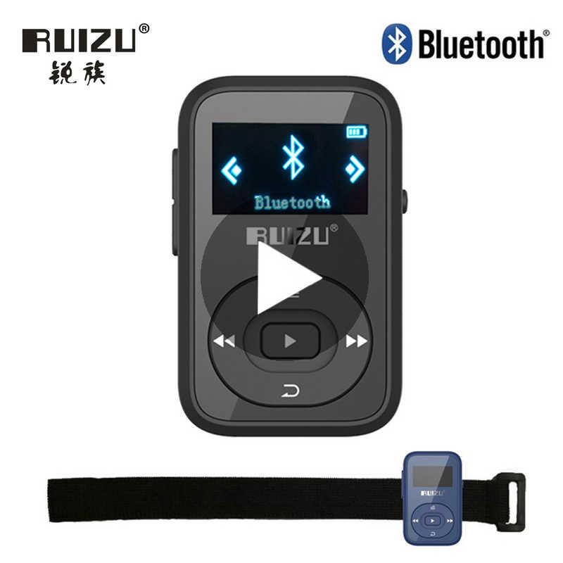 Ruizu LCD الرياضة الصوت بلوتوث صغير Mp3 لاعب الموسيقى الصوت Mp 3 Mp-3 مع راديو الرقمية ايفي مرحبا فاي شاشة Fm Flac usb 8GB كليب