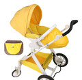 Portable baby stroller can sit can lie high landscape easily fold stroller children car in winter