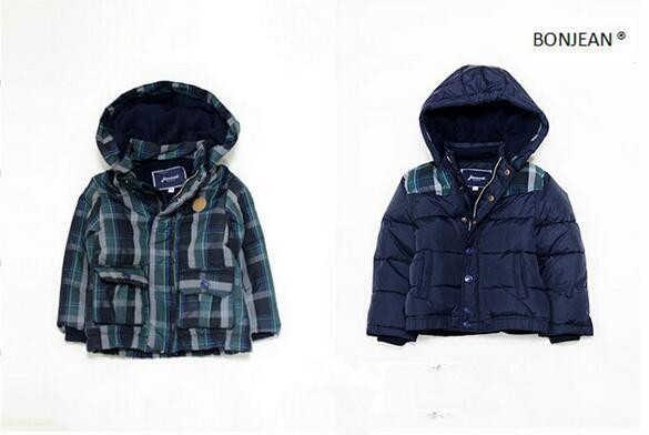 ФОТО Y081 Retail New 2016 Winter Baby Boy Jackets Plaid Hooded Fashion Casual  Boy Outerwear Coat Worm Kids Clothing