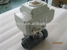 Motorized upvc 3way plastic ball valve
