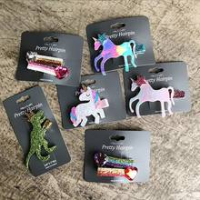 Hot Sale Children's Gifts Fashion Cute Cartoon Unicorn Hair Clips for Girls Heart Hairpins Barrettes Hairgrip Hair Accessories(China)