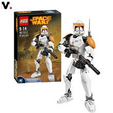 2016 New Children assembled puzzle blocks early baby toy Star Wars Clone Commander Cody 82pcs big
