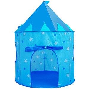 Image 5 - 9 色再生テントポータブル折りたたみ少年少女王子折りたたみテント子供少年城ままごと子供のギフト屋外のおもちゃテント