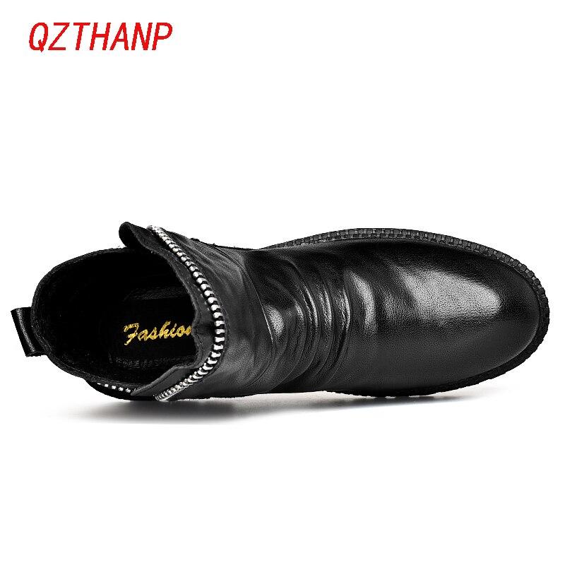 Nouvelle Hommes Cuir D'hiver Qualité Zapatos En Sneakers Top Chaussures De Footwears Masculino Bottes Arrivée Zipper Bot Casual Black Tenis Hombre ZikuPX
