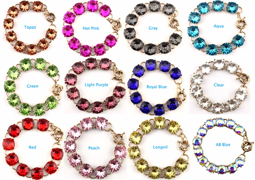 15mm clear crystals dot bracelets bangle for women glass for Stella and dot jewelry wholesale