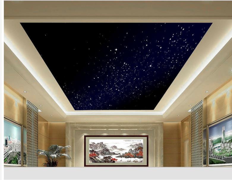 Custom photo wallpaper 3D stereoscopic Sky ceiling 3d wallpaper modern for living room murals Home Decoration(China (Mainland))