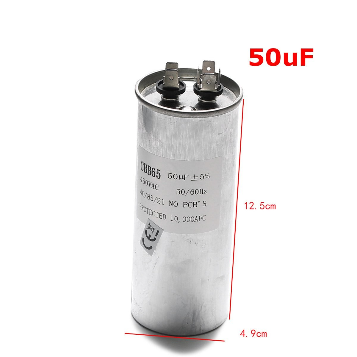 Cbb65 50uf Ac 450v 50 60hz Start Motor Capacitor Air