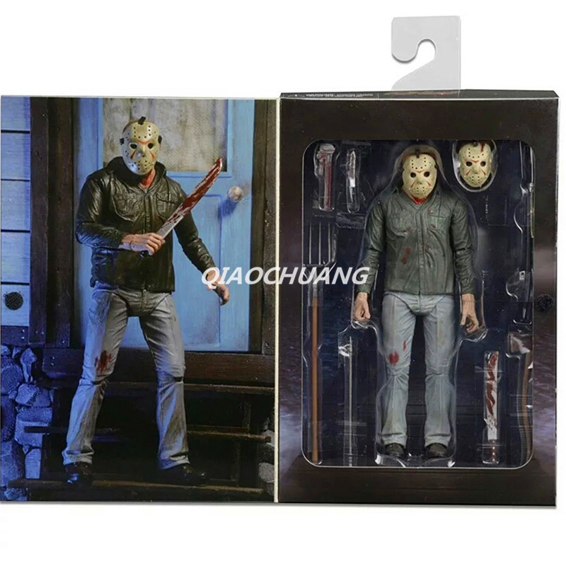 NECA Friday the 13th Part 3 3D Jason Voorhees PVC Action Figure Collectible Model Toy 18cm RETAIL BOX W158 neca heroes of the storm dominion ghost nova pvc action figure collectible model toy 15cm