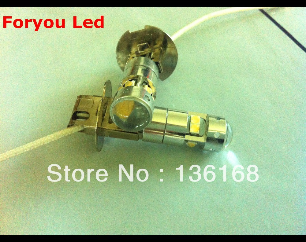 2pcs High Power Mini Size <font><b>CREE</b></font> XBD Chips 40W <font><b>H3</b></font> <font><b>LED</b></font> Fog Light 12V 24V car DRL light lamp car lighting white image