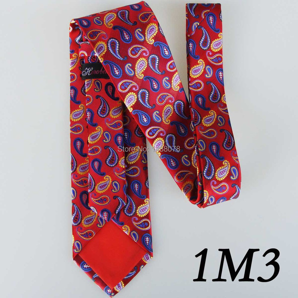 Red Paisley Ties 1M3++