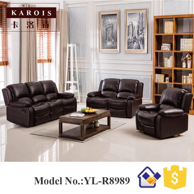 Modern Electric Recliner Sofa Italian Leather Set 3 2 1 Seat