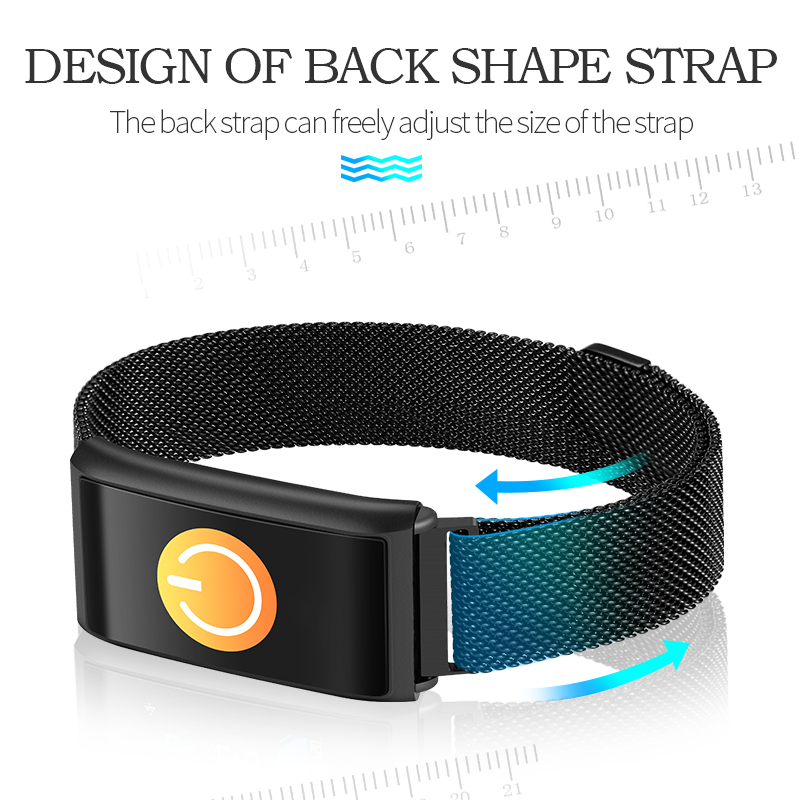 2018 Sleep Monitor Fitness Tracker metal SmartBand Heart Rate Smart Bracelet Blood Pressure Colorful Screen Smart pk mi band 2 3