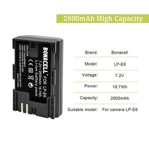 Image 2 - Batería de LP E6 + Cargador de Batería Dual para Canon EOS 80D, 6D, 7D, 70D, 60D, 5D Mark III, 5D Mark II, BG E14, BG E11, BG E9