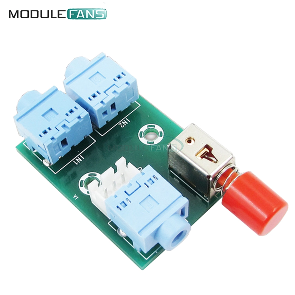 Xh M371 Audio Switching Module 35 2 Into 1 Out Switch Switcher Circuit Board Socket Diy Electronic Pcb In Integrated Circuits From