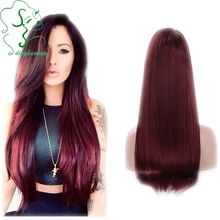 130Density Straight Front Lace Wigs With Baby Hair Side Part Silky Straight Brazilian Virgin Full Lace Human Hair Wigs In Stock