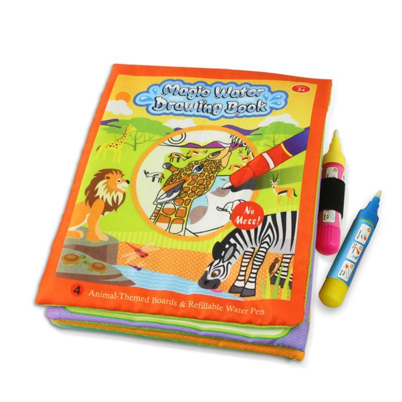 Barn Dyr Maleri Magic Vann Tegning Bok med 2 Vann Pen Barn Doodle - Læring og utdanning - Bilde 2