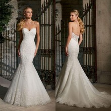 2016 Sexy V-Neck Backless Floor Length White Ivory Mermaid Women Wedding Dress Bridal Gown Sleeveless Sweep Train F247