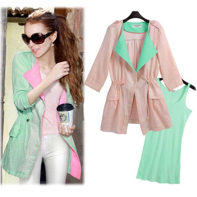 83a45a54f16 Vest 2 Pcs Sets 2017 Summer Fashion Plus Size Sun Protection Clothing  Cardigans Sets for Women Kimono Tops Female Cotton Linen