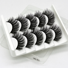 5 Pairs Mink Eyelashes Natural/Thick 3D Faux Lashes Natural False Eyelash HandMade Eyelashes Makeup Tool Extension Fake Lashes