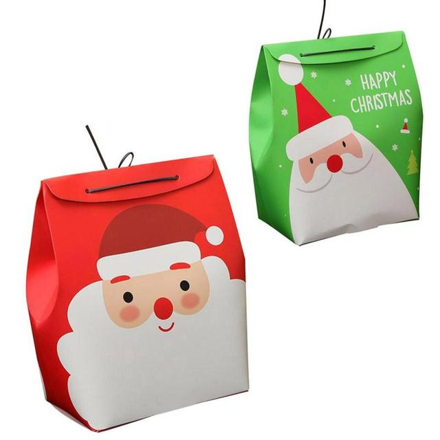 christmas claus snowmen pattern gift packing bag cartoon santa snowman paper candy bag wrap portable christmas - Santa Snowman