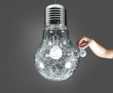 300mm * 450mm kreativní žárovka stropní světlo moderní bílé sklo hliník zlatý a stříbrný drát uvnitř studovny foyer salonku