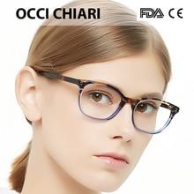 OCCI CHIARI Eyeglasses Women Frame Clear Lens Myopia optical glasses Spectacle 2018 Fashion Acetate Eye Glasses Pink Red MEGHA