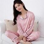 Sexy silk pajamas wo...