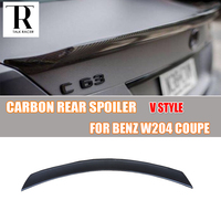 W204 Carbon Fiber Rear Trunk Spoiler for Mercedes Ben W204 2 Door Coupe Only 2007 2013 V Style