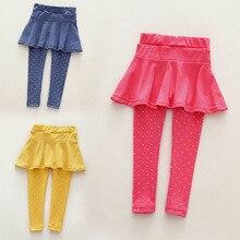 Леггинсы-брюки zehui горошек модный шерсть девочка малыш ноги теплые ребенок стиль