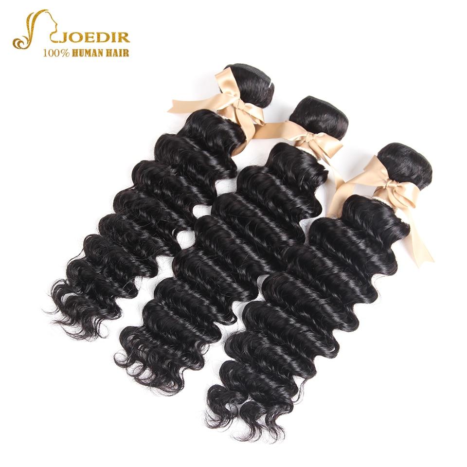 Joedir Deep Wave Indian Hair Weave Bundles Natural Color Remy Human Hair Weaving 10-26inches 3 bundles Beauty Supply Salon Sale