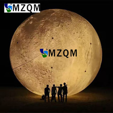 MZQM 6 meters diameter LED white  Inflatable moon Inflatable Crescent moon stage decorative party decoration Inflatabl moon