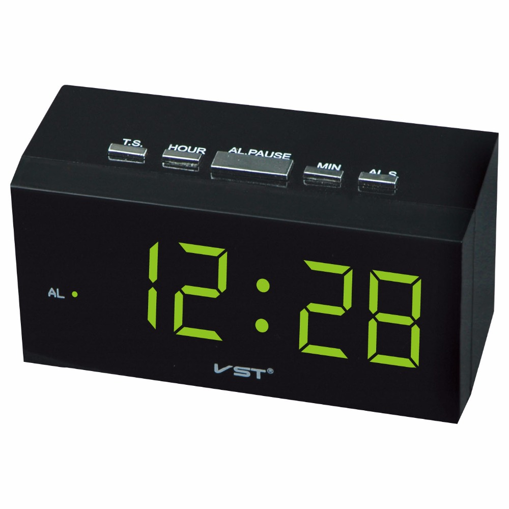 US $16 88 |LED digital alarm clock with EU plug Modern decor desktop  electric led alarm clock Luminous big number display clock-in Alarm Clocks  from