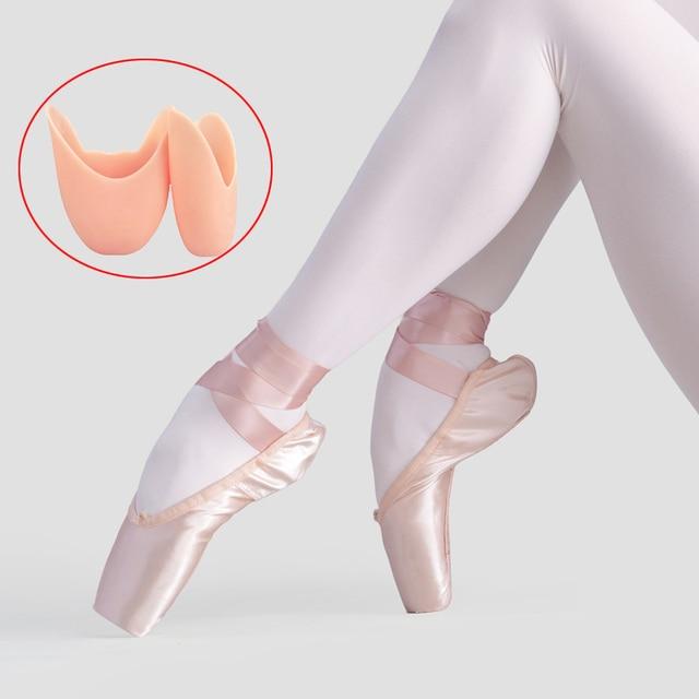 الفتيات السيدات الباليه بوانت أحذية الكبار النساء المهنية الساتان أحذية الباليه الرقص مع الشريط