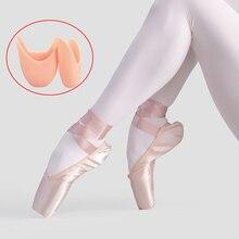 Dziewczęce damskie baletki dla dorosłych kobiet profesjonalne satynowe buty do tańca baletowego ze wstążką