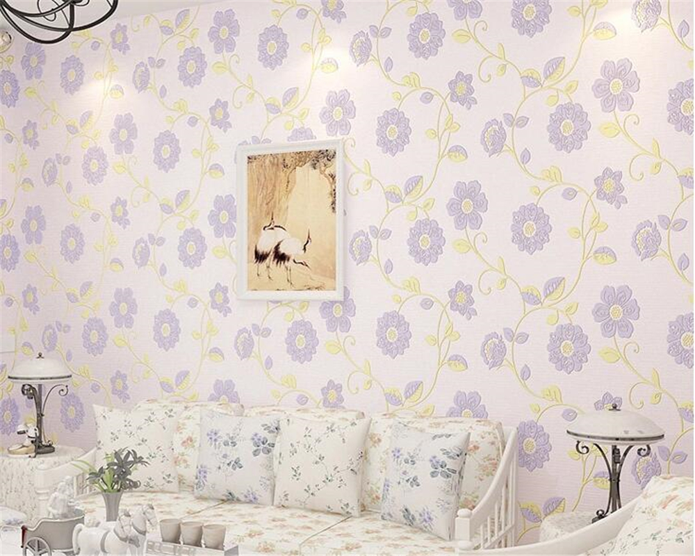 beibehang 3D non-woven papel de parede 3d wallpaper classic fashion pastoral blue warm bedroom living room TV wall wallpaper beibehang mediterranean blue striped 3d wallpaper non woven bedroom pink living room background wall papel de parede wall paper