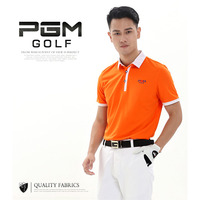 Durable PGM Brand Outdoor Sport Polo Quick Dry Short Glof Shirt Men T Shirt Breathable Cotton