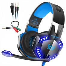 Kotion EACH Stereo Gaming Headset for Xbox One PS4 PC Surround Sound Over-Ear Headphones with Noise Cancelling Mic LED Lights стоимость