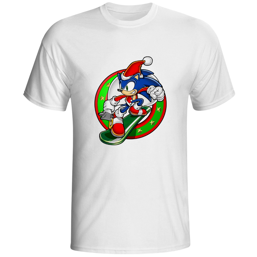 Sonic The Hedgehog T-shirt Print Fashion Funny Video Game T Shirt Skate Brand Design Women Men Top