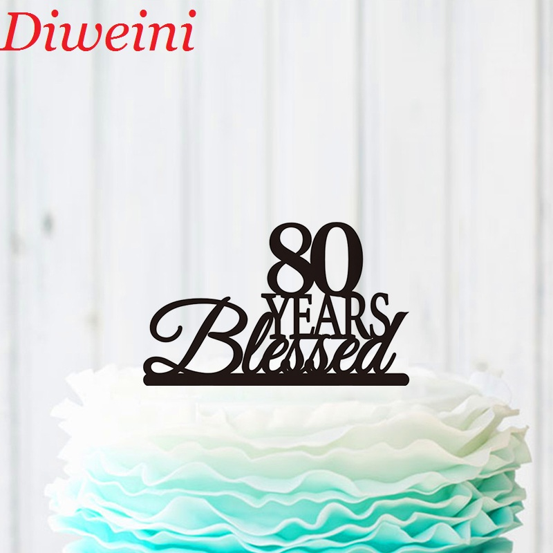 Awe Inspiring 80 Years Loved Cake Topper 80Th Birthday Cake Topper 80Th Funny Birthday Cards Online Aboleapandamsfinfo