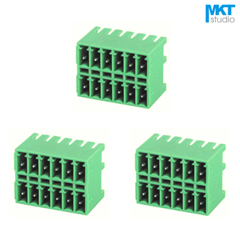 100Pcs 10P 3.81mm Pitch Double Row Right Angle Pin Male Pluggable PCB Electrical Screw Terminal Block 2x5P