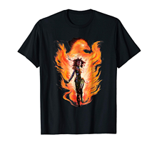 Marvel X-Men Rise Of The Dark Phoenix Flames Graphic T Shirt Black Cotton S-6XL  Tee Shirts For Men