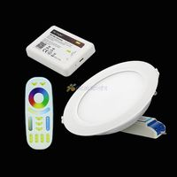 Mi. light 12 W RGB + SKK LED Downlight FUT066 2.4G Dim Led panel işık Yuvarlak reccessed ışık RF Uzaktan Kumanda + WIFI ile Ibox2