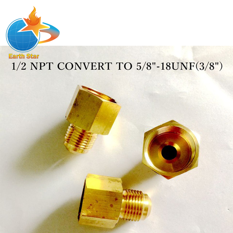 EARTH STAR Pipe assembly Brass adapter 1/2NPT convert to 5/8UNEF thread connector promotion price xeltek programmers private cx1027 test writers convert adapter