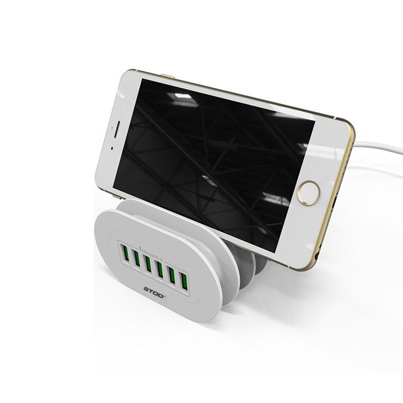 STOD Multi Port USB լիցքավորիչ 6 պորտի - Բջջային հեռախոսի պարագաներ և պահեստամասեր - Լուսանկար 3