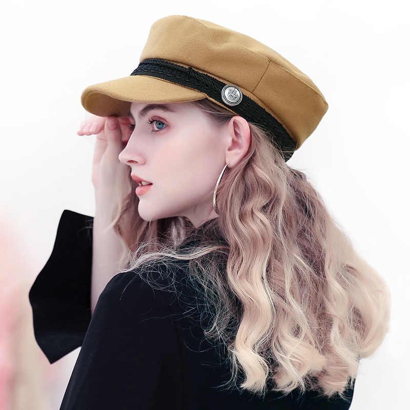 ... очень стильно черный зимний кепка женская бейсболка 2018 кашемир теплый  картуз женский берет сплошной цвет мягкий ... e1a6a2963dc9a