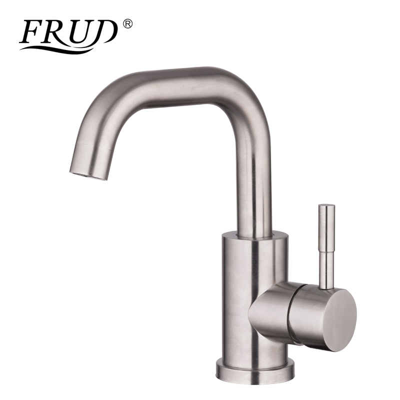 Frud New-listed Basin Faucet Stainless Steel Faucet Crane Single Handle Basin Faucet torneira banheiro Bathroom Basin Tap Y10027Frud New-listed Basin Faucet Stainless Steel Faucet Crane Single Handle Basin Faucet torneira banheiro Bathroom Basin Tap Y10027