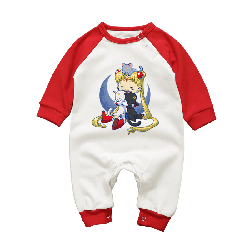 Baby Girls Romper Anime Sailor Moon Dress Bodysuit Newborn Jumpsuit Infant Gift