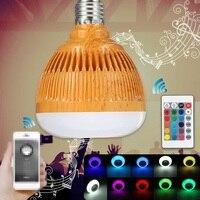 New LED Lamp Bulb E27 12W RGB Bluetooth Wireless Audio Speaker Music Player Smart LED Light