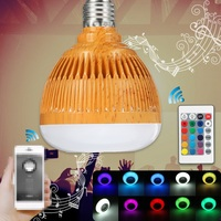 New LED Lamp Bulb E27 12W RGB Bluetooth Wireless Audio Speaker Music Player Smart LED Light